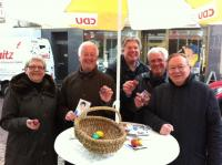 Der Vorstand der CDU-Endenich mit den Mandatsträgern Johannes Klemmer (2.v.r.), Dieter Behrenbruch (r.) und dem Vorsitzenden Markus Schuck (3.v.r.).
