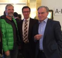 v.l.n.r. Tom Schmidt (Grüne) Dr. Christos Katzidis, Dr. Klaus-Peter Gilles