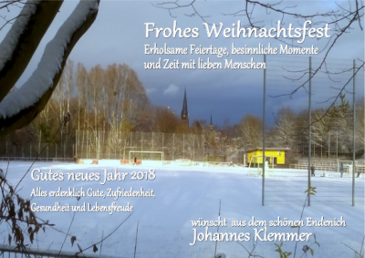 Weihnachten 2017 Johannes Klemmer