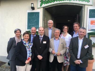 Der CDU-Ortsvorstand Venusberg/Ippendorf mit dem Fraktionsvorsitzender Dr. Klaus Peter Gilles und Dr. Claudia Lücking-Michel (rechts und links neben dem Ortsvorsitzenden Ingo Schulze