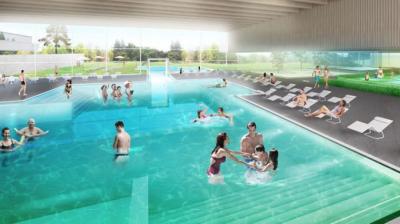 So könnte das neue Schwimmbad aussehen. Quelle: 4a Architekten