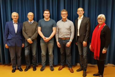 Helmut Vreden, Wolfgang Otten, Frederic Otten, Simon Sauer, Michael Husmann, Hildegard Dietz-Wallot (v.l.n.r.)